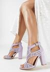 Liliowe Sandały Analura