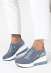 Niebieskie Sneakersy Azaernell
