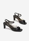 Czarne Sandały Sheimere