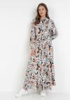 Ciemnobeżowa Sukienka Euphyphe