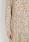 Beżowa Sukienka Praxophi