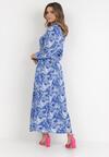 Niebieska Sukienka Taphithise
