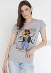 Szary T-shirt Leuceilla
