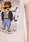 Jasnoróżowy T-shirt Leuceilla