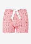 Różowe Spodnie Piżamowe Paphosia