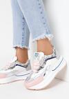 Biało-Różowe Sneakersy Aeleonoire