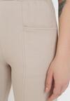 Beżowe Spodnie Dresowe Astrethe