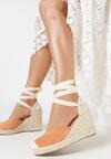Pomarańczowe Sandały Theanypso
