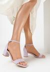 Liliowe Sandały Salophis