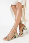 Miętowe Sandały Pholora