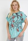 Miętowy T-shirt Ethallis
