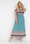 Niebieska Sukienka Zelephia