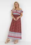 Bordowa Sukienka Zelephia