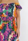 Fioletowo-Żółta Sukienka Harphiphi