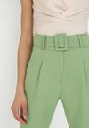 Jasnozielone Spodnie Cygaretki Selestiphelia