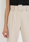 Jasnobeżowe Spodnie Cygaretki Selestiphelia