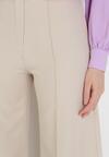 Jasnobeżowe Spodnie Szerokie Aelalise