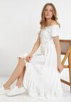 Biała Sukienka Arethetis