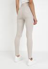 Jasnobeżowe Spodnie Skinny Saphamene