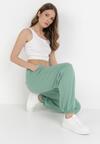 Zielone Spodnie Dresowe Thyxithis