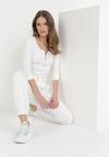 Białe Spodnie Dresowe Peshyphe