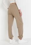 Jasnobeżowe Spodnie Dresowe Peshyphe