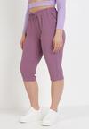Ciemnofioletowe Spodnie Viffi