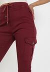 Bordowe Spodnie Akisypso