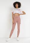 Różowe Spodnie Joggery Uhrelin