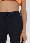 Granatowe Spodnie Joggery Uhrelin