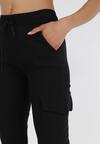 Czarne Spodnie Joggery Uhrelin
