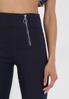 Granatowe Spodnie Skinny Kelnessa
