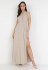 Beżowa Sukienka Sagassa