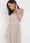 Beżowa Sukienka Sagiphei