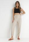 Beżowe Spodnie Therathis