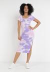 Fioletowo-Różowa Sukienka Phaethisa