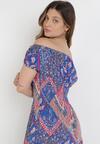 Niebieska Sukienka Elinaith