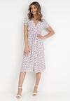 Biało-Różowa Sukienka Helsea