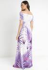 Fioletowa Sukienka Thellisa
