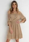 Ciemnobeżowa Sukienka Zaehorin