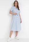 Jasnoniebieska Sukienka Zaehtila