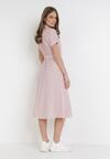 Różowa Sukienka Zaehtila