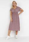 Bordowo-Fioletowa Sukienka Fyresh