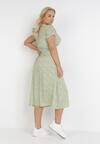 Jasnozielona Sukienka Drenrahne