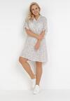 Biała Sukienka Clalis
