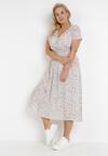 Biała Sukienka Glysola