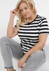 Czarno-Biały T-shirt Lameriye