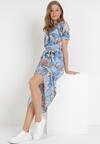 Niebieska Sukienka Jynoris