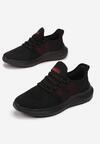 Czarno-Czerwone Buty Sportowe Neamemia