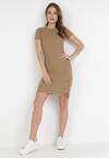 Ciemnobeżowa Sukienka Lipise